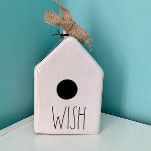 NWT Rae Dunn WISH Birdhouse